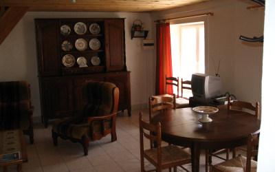 Chez Fanou - Le coin salon, au rez-de-chaussée.